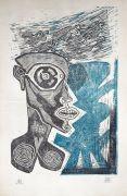 tête aux étourneaux, 2017, 31 x 20 cm