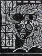 sans titre, bois gravé, 2006, 19 x 15 cm